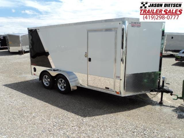 2019 United Trailers XLMTV 7x14 Wedge-Nose Enclosed Car Hauler....Stock # UN-162801