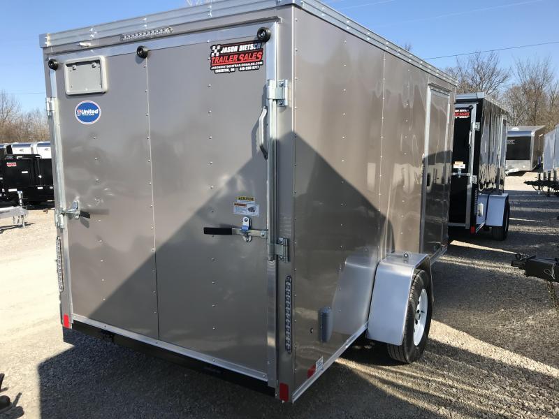 2018 United XLV 6X12 V-Nose Slant Enclosed Cargo Tr....Stock# UN-162219