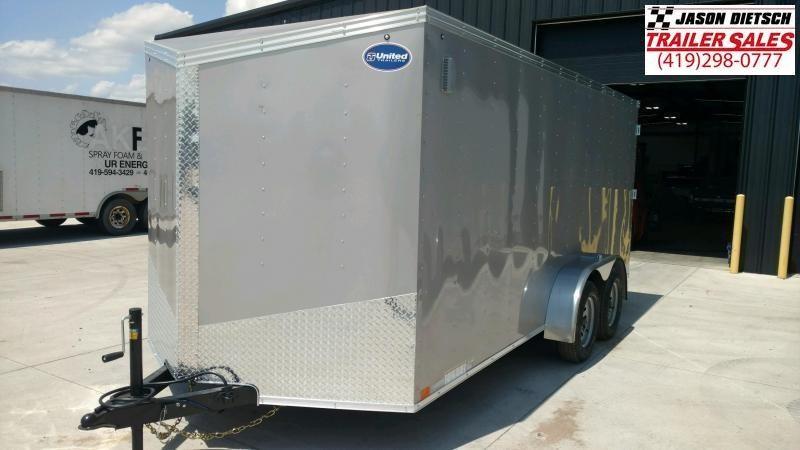 2020 United Trailers XLV 7x14 V-Nose Enclosed Cargo Trailer....Stock# UN-166145