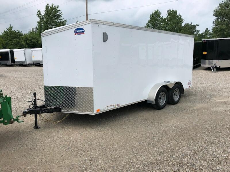 2019 United Trailers XLV 7x16 V-Nose Enclosed Cargo Trailer....Stock# UN-162778