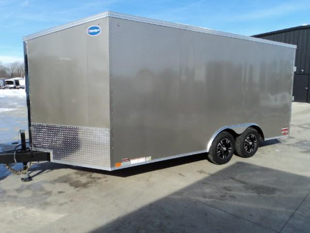 2018 United Trailers XLTV 8.5x19 Wedge-Nose Enclosed Car Hauler....Stock # UN-159820