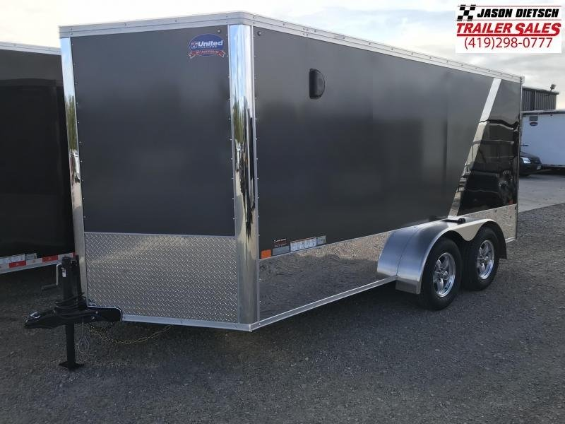 2019 United Trailers XLMTV 7x14 Wedge-Nose....Stock # UN-165178