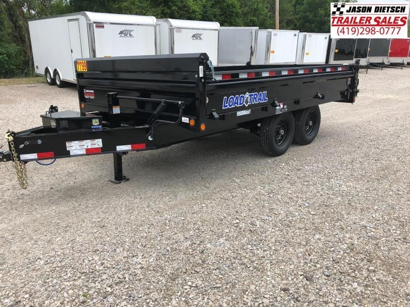 2018 Load Trail 96X14 Tandem Axle Pintle Hook Deck Over Dump Trailer....STOCK# LT-168457