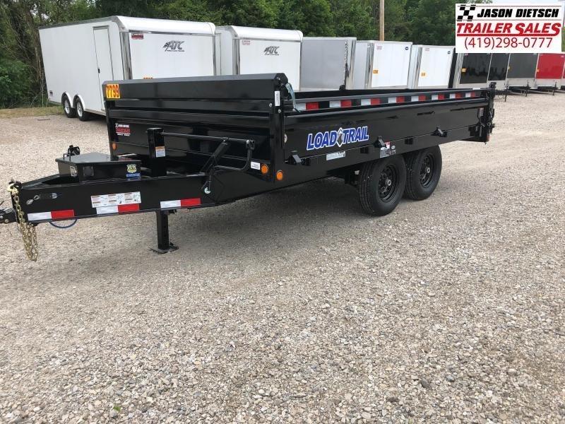 2018 Load Trail 96X14 Tandem Axle Pintle Hook Deck Over Dump Trailer....STOCK# LT-168457