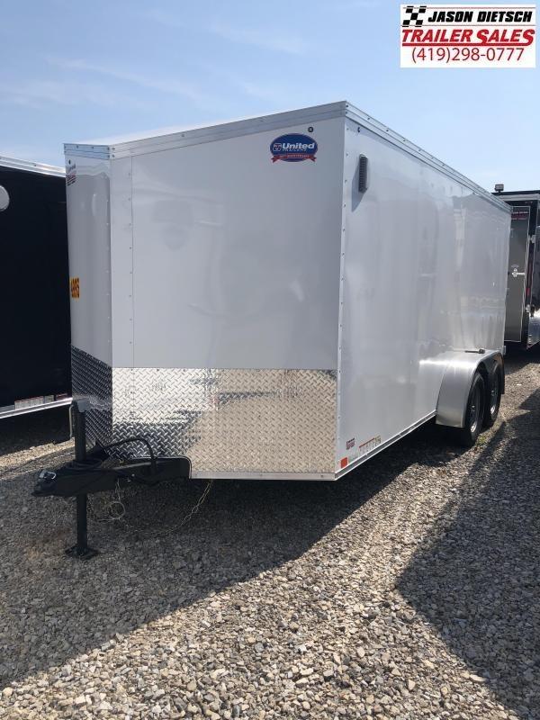 2019 United Trailers XLV 7x16 V-Nose Enclosed Cargo Trailer....Stock# UN-162788