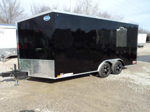 2018 United Trailers XLTV 8.5x19 Wedge-Nose Enclosed Car Hauler....Stock # UN-159817