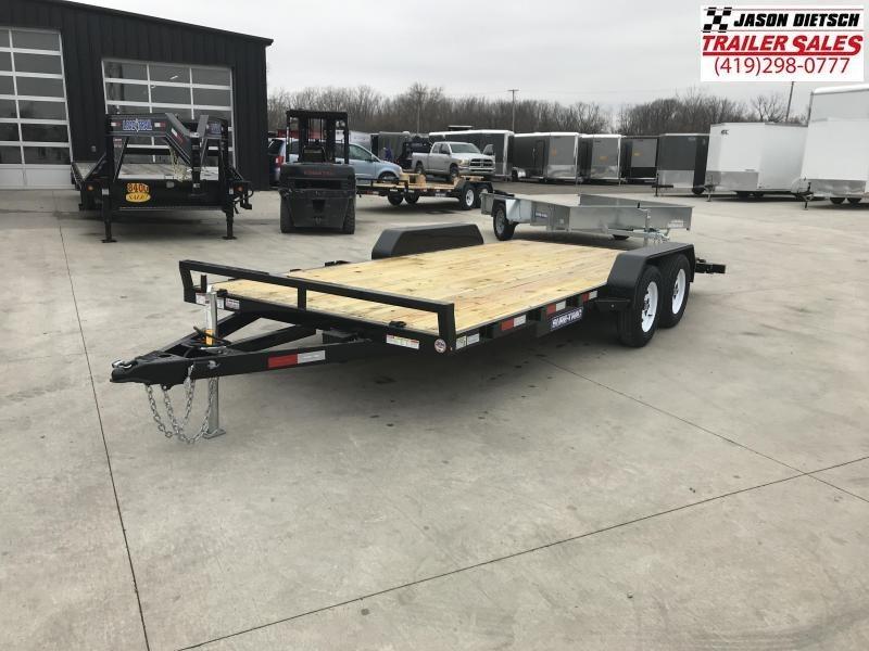 2019 Sure-Trac 7X18 Open Wood Deck Car Hauler....STOCK# ST-259273