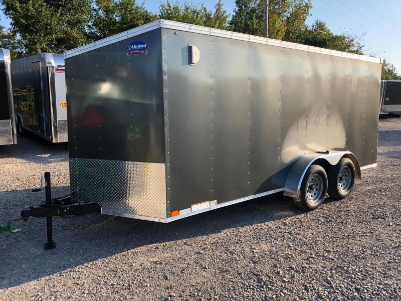 2019 United Trailers XLV 7x16 V-Nose Enclosed Cargo Trailer....Stock# UN-162781