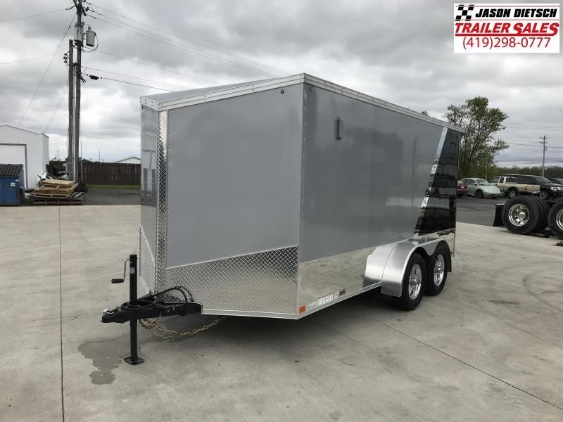 2020 United Trailers XLMTV 7x14 Wedge-Nose Enclosed Car Hauler....Stock # UN-166344