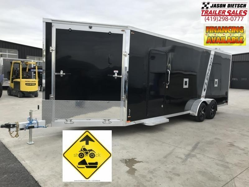 2019 Legend Manufacturing 7X27 EXPLORER EXTRA HEIGHT Snowmobile Trailer....STOCK LG-317357