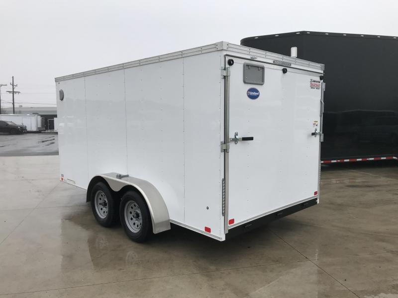 2019 United Trailers XLV 7x14 V-Nose Enclosed Cargo Trailer....Stock# UN-166153