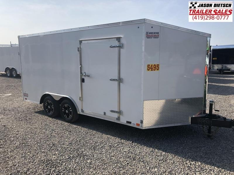 2019 United Trailers XLTV 8.5x19 Wedge-Nose Enclosed Car Hauler....Stock # UN-159812