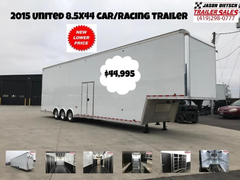 2015 United Trailers USHGN 8.5X44 Car / Racing Trailer