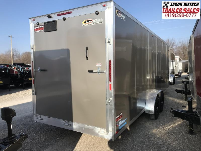 2019 Legend Manufacturing 7X29 THUNDER EXTRA HEIGHT Snowmobile Trailer....STOCK LG-317364