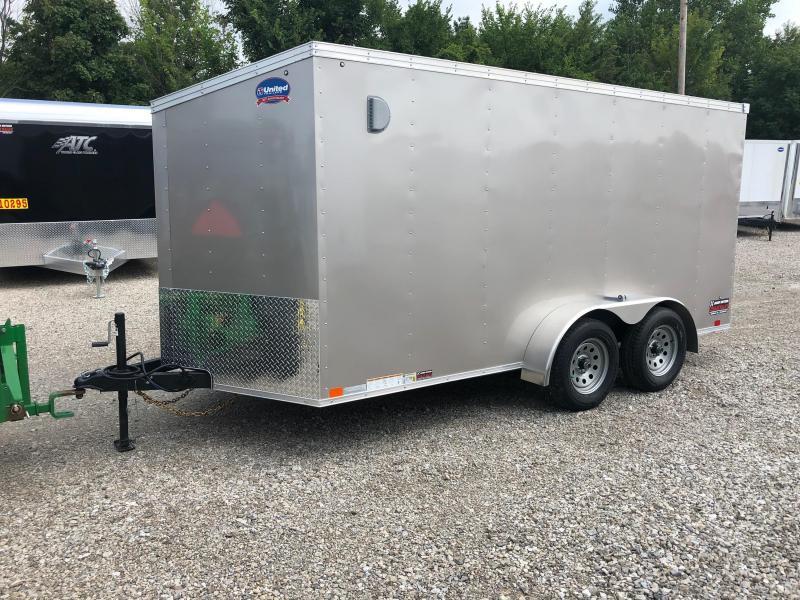 2019 United Trailers XLV 7x14 V-Nose Enclosed Cargo Trailer....Stock# UN-162765
