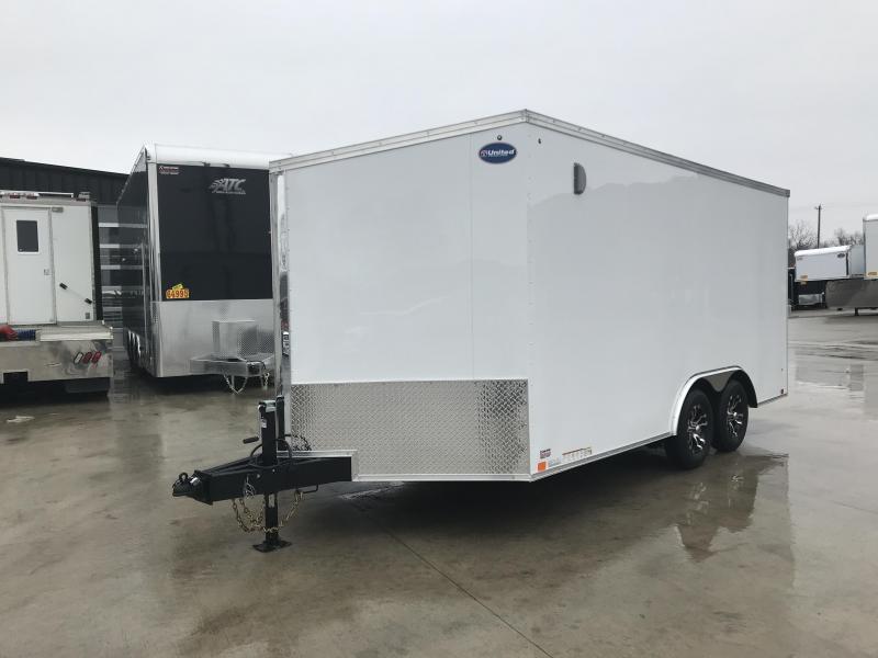 2019 United Trailers XLTV 8.5x19 Wedge-Nose Enclosed Car Hauler....Stock # UN-166598
