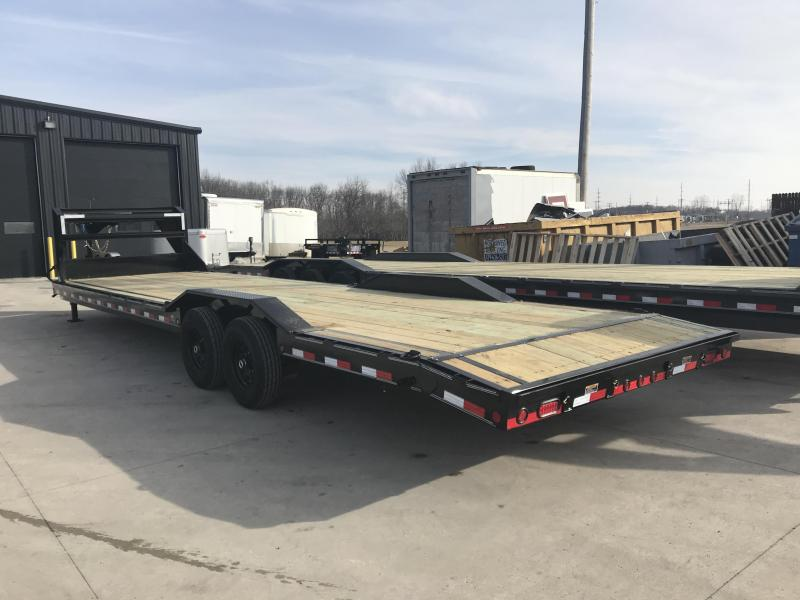 2019 Load Trail 102X32 Tandem Gooseneck Carhauler Car / Racing Trailer....STOCK# LT-182342