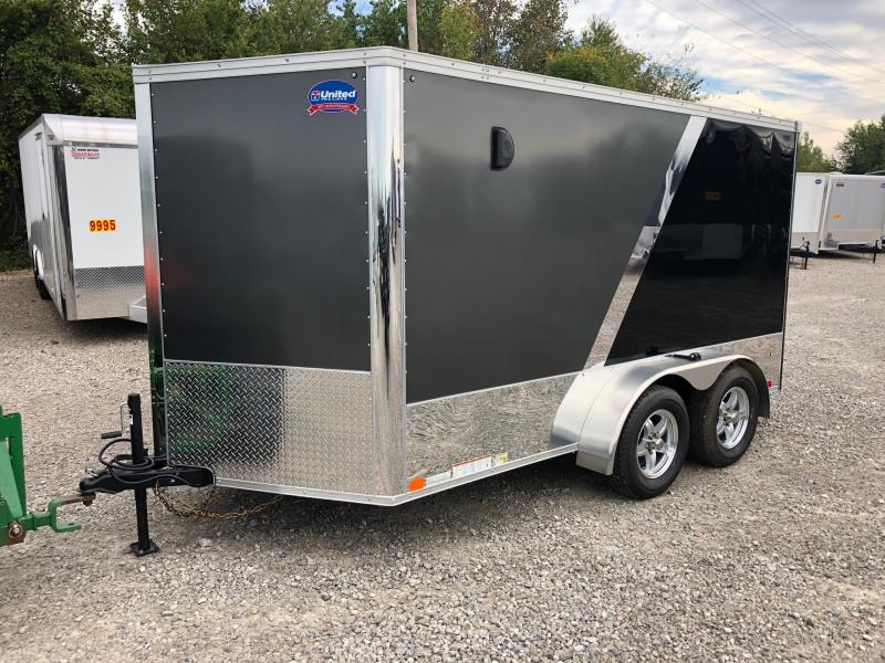 2019 United Trailers XLMTV 7x12 Wedge-Nose Enclosed Car Hauler....Stock # UN-164735