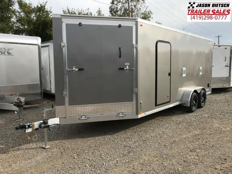 2019 Legend Manufacturing 7X23 THUNDER EXTRA HEIGHT Snowmobile Trailer....STOCK LG-317330