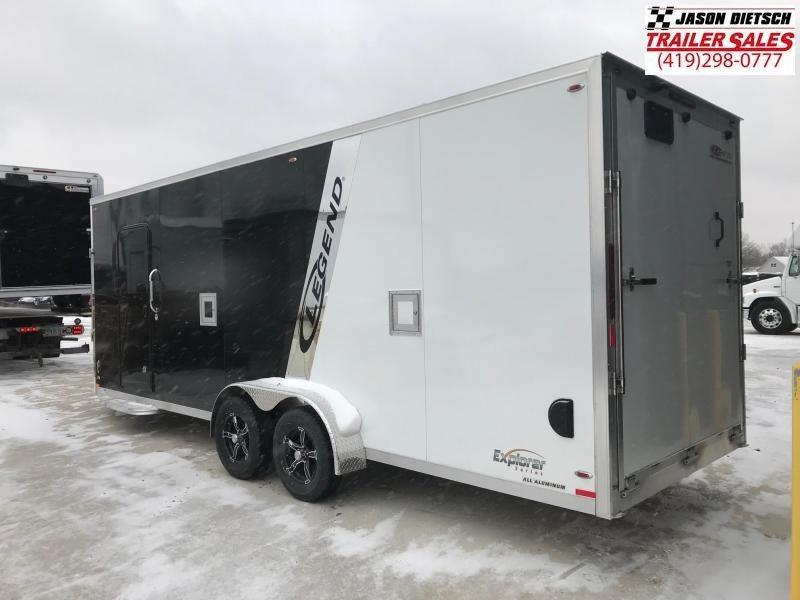 2019 Legend Manufacturing 7X27 EXPLORER EXTRA HEIGHT Snowmobile/ATV Trailer....STOCK LG-317360