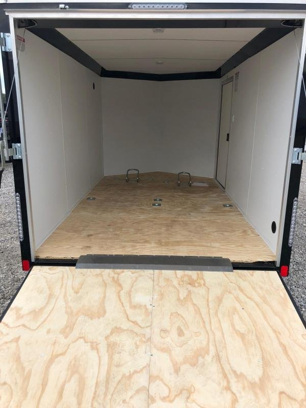 2019 United Trailers XLMTV 7x12 Wedge-Nose Enclosed Car Hauler....Stock # UN-167409