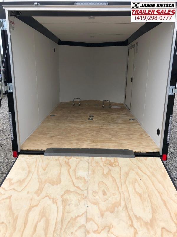 2019 United Trailers XLMTV 7x12 Wedge-Nose Enclosed Car Hauler....Stock # UN-167409