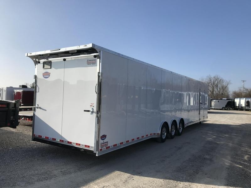 2019 United UXGH 8.5X48 Wide Body Gooseneck EXTRA HEIGHT Triple Axle Flat Top....Stock# UN-166303