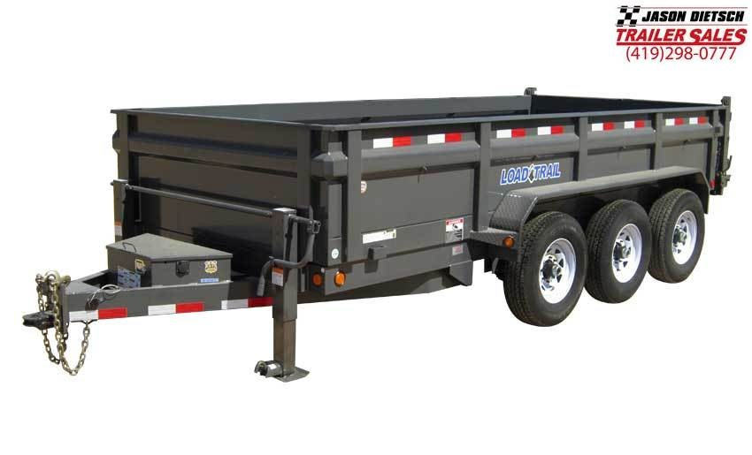 "2019 Load Trail 96"" X 16' Triple 2 5/16 ball hitch Deck Over Dump Dump Trailer"