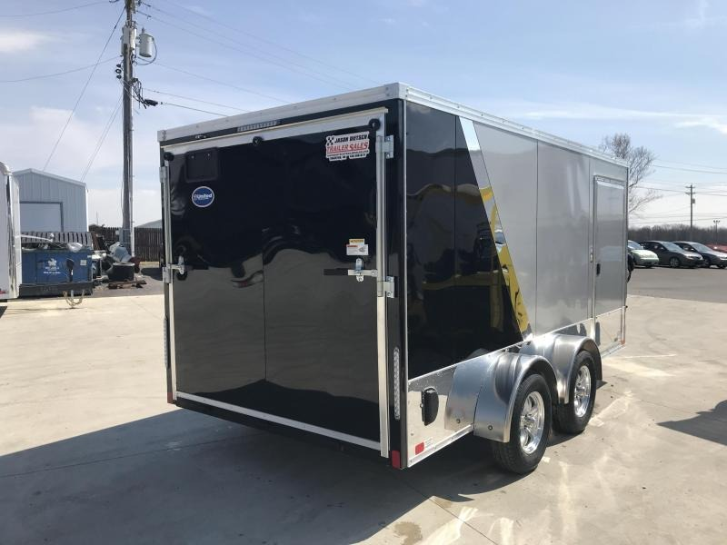 2020 United Trailers XLMTV 7x14 Wedge-Nose Enclosed Car Hauler....Stock # UN-167816