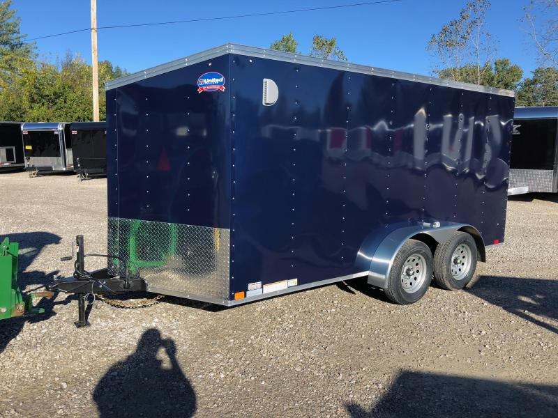2019 United Trailers XLV 7x14 V-Nose Enclosed Cargo Trailer....Stock# UN-162767