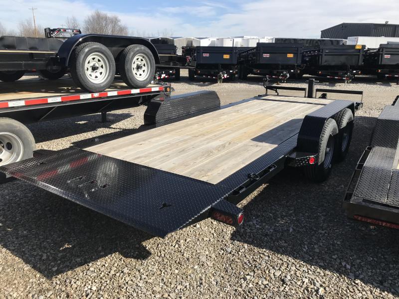 2017 Iron Bull 83x18 Tandem Axle Low Pro Tilt Equipment Trailer W/2 Stationary Deck....Stock#IB-1283