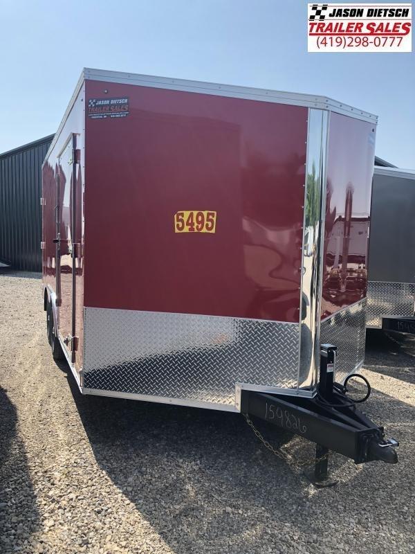 2019 United Trailers XLTV 8.5x19 Wedge-Nose Enclosed Car Hauler....Stock # UN-159826