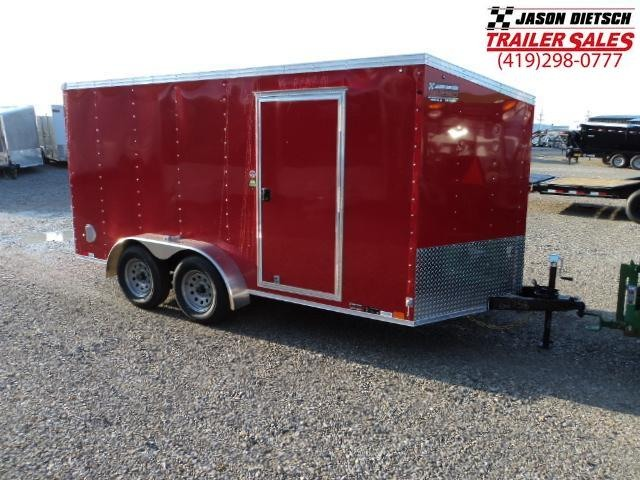 2019 United Trailers XLV 7x14 V-Nose Enclosed Cargo Trailer....Stock# UN-162758