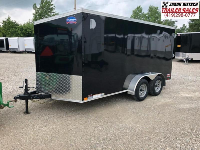 2019 United Trailers XLV 7x14 V-Nose Enclosed Cargo Trailer....Stock# UN-162771
