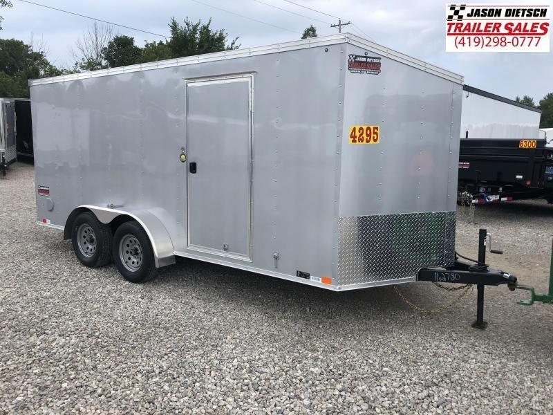 2019 United Trailers XLV 7x16 V-Nose Enclosed Cargo Trailer....Stock# UN-162780