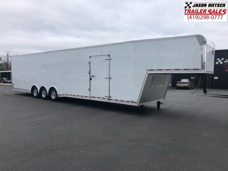 2019 United UXGH 8.5X44 EXTRA HEIGHT Wide Body Gooseneck Triple Axle Flat Top....Stock# UN-166895