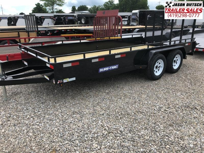 2019 SURE-TRAC 7x16 Steel High Side Trailer..... Stock # ST-244803