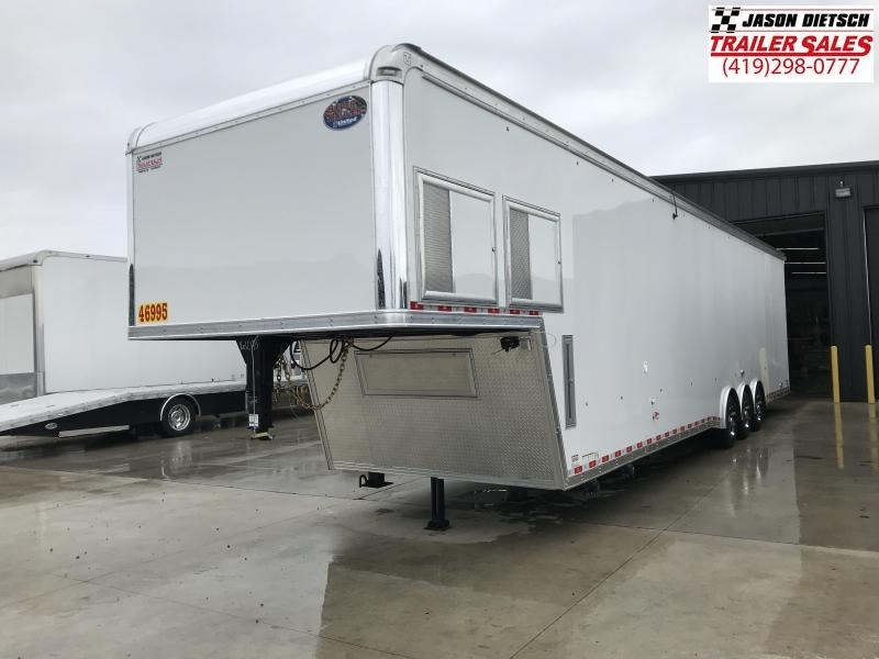 2019 United Trailers USHGN 8.5X44 BATHROOM PACKAGE Car / Racing Trailer....STOCK# UN-161043