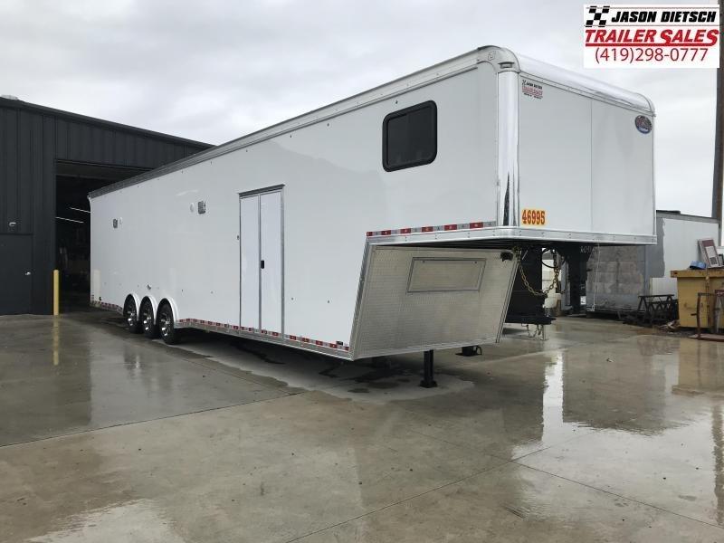 2019 United Trailers USHGN 8.5X44 BATHROOM PACKAGE Car / Racing Trailer....STOCK# UN-161043