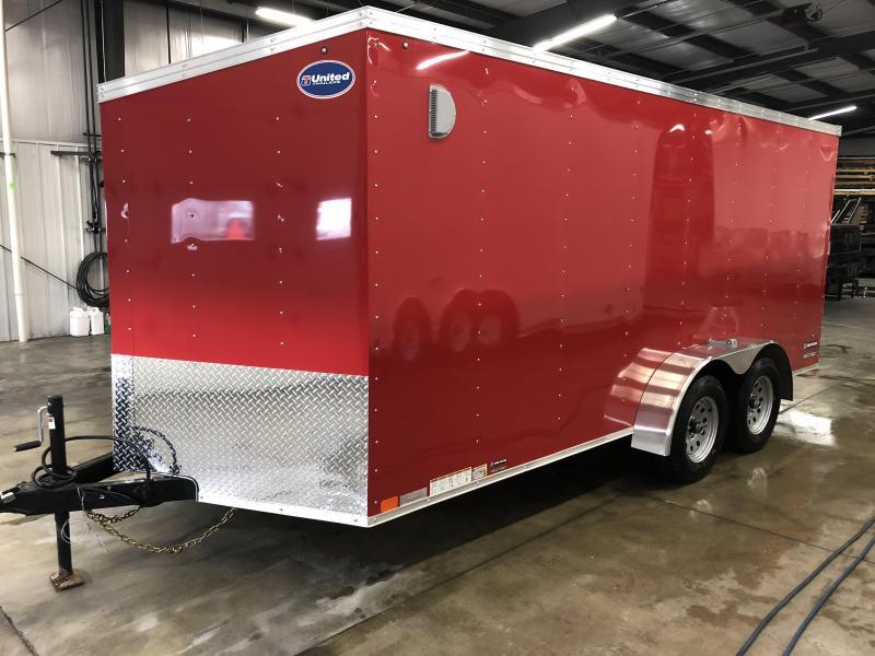 2019 United Trailers XLV 7x14 V-Nose Enclosed Cargo Trailer....Stock# UN-162783