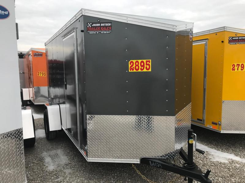2019 United XLV 6X12 V-Nose Slant Enclosed Cargo Tr....Stock# UN-166125