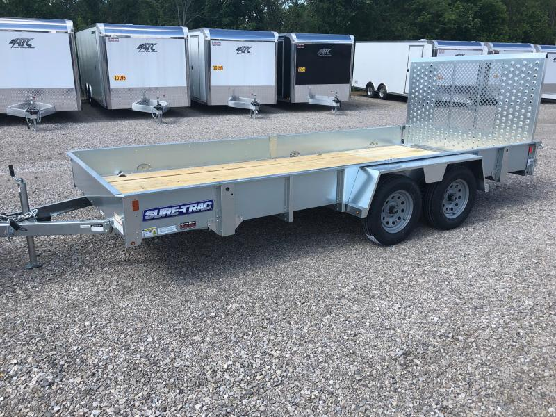 2018 SURE-TRAC 7x16 Galvanized High Side Utility Landscape Trailer..... Stock # ST-234920