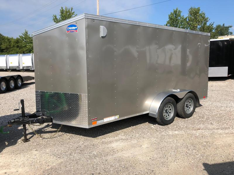 2019 United Trailers XLV 7x14 V-Nose Enclosed Cargo Trailer....Stock# UN-162766