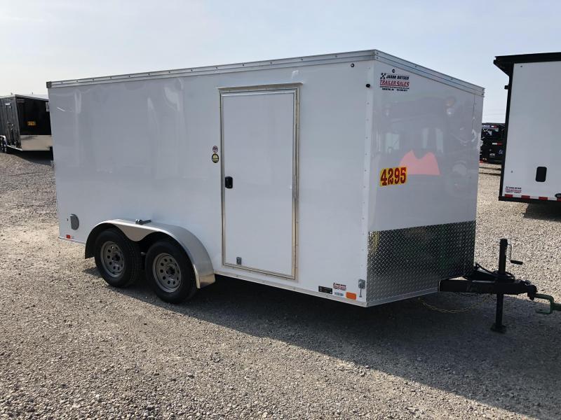 2019 United Trailers XLV 7x14 V-Nose Enclosed Cargo Trailer....Stock# UN-162770