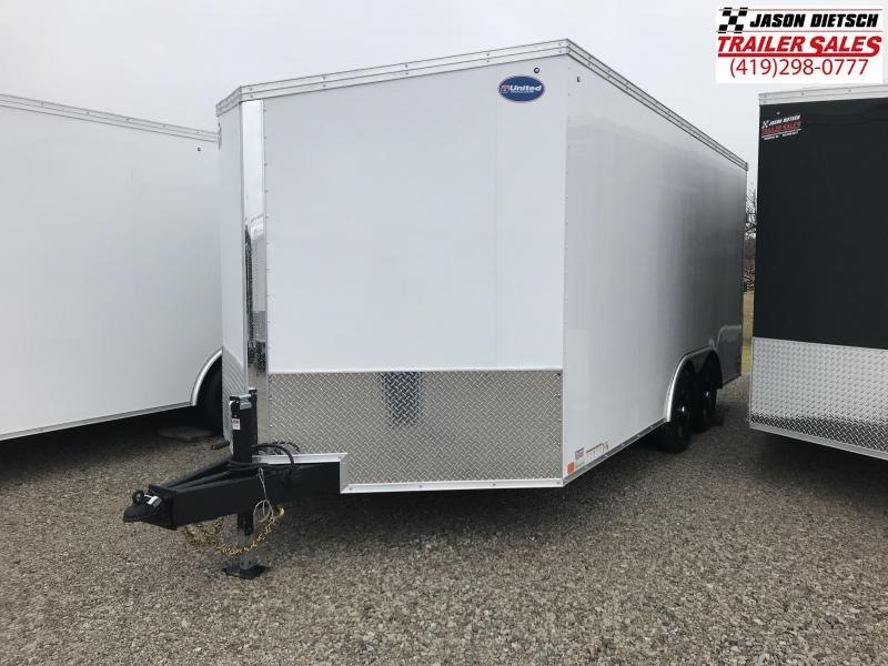 2018 United Trailers XLTV 8.5x19 Wedge-Nose Enclosed Car Hauler....Stock # UN-159810