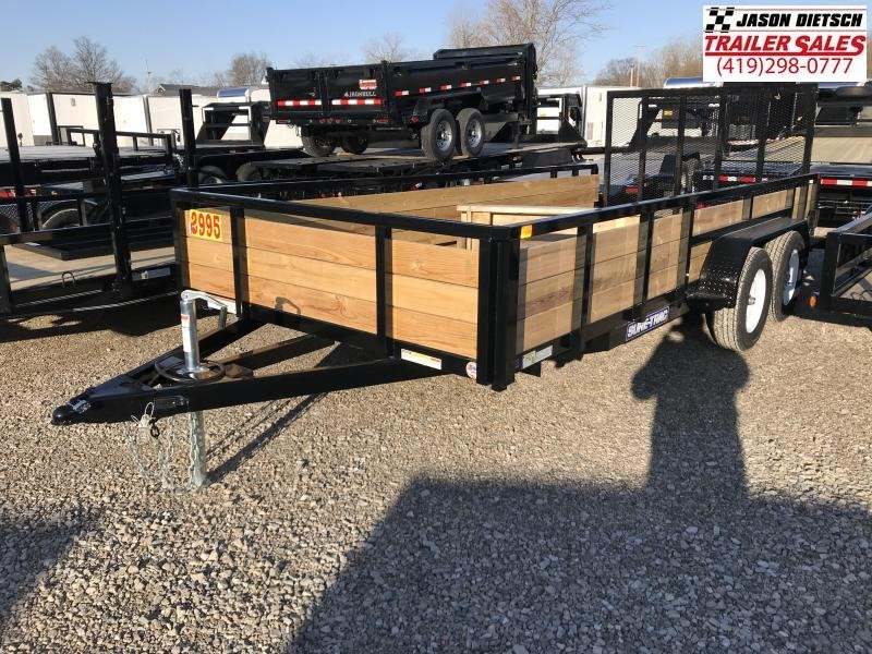 2018 Sure Trac 7x16 TA Tube Top 3-Board High Side Trailer....Stock# ST-8118