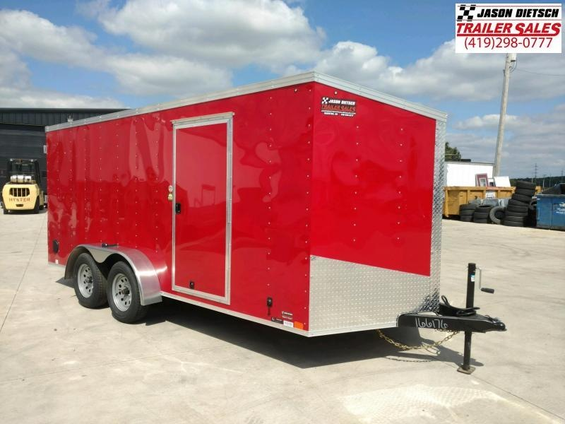 2020 United Trailers XLV 7x16 V-Nose Enclosed Cargo Trailer....Stock# UN-166176