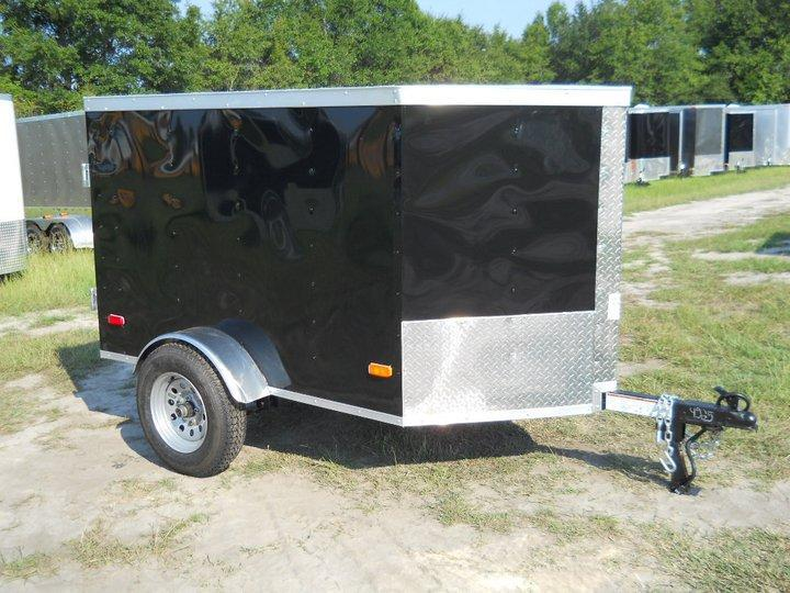 2019 Covered Wagon Trailers 4x6 Enclosed Cargo Trailer in Hazelwood, NC