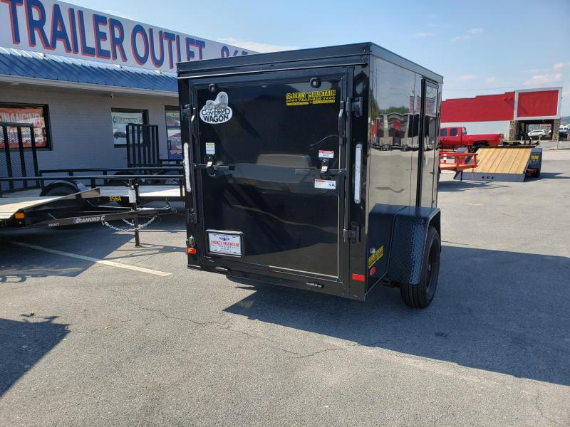 2019 Covered Wagon Trailers 5x8 Gold Black out Enclosed Cargo Trailer