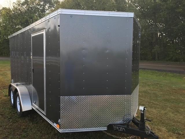 United Trailers XLV716TA Enclosed Cargo Trailer w/ Ramp Door